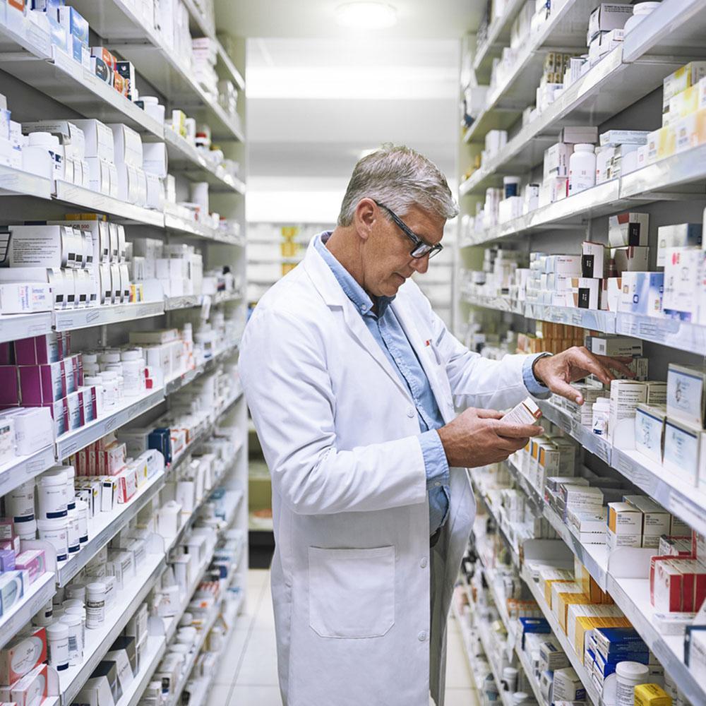 Pharmacists Looking at Medication