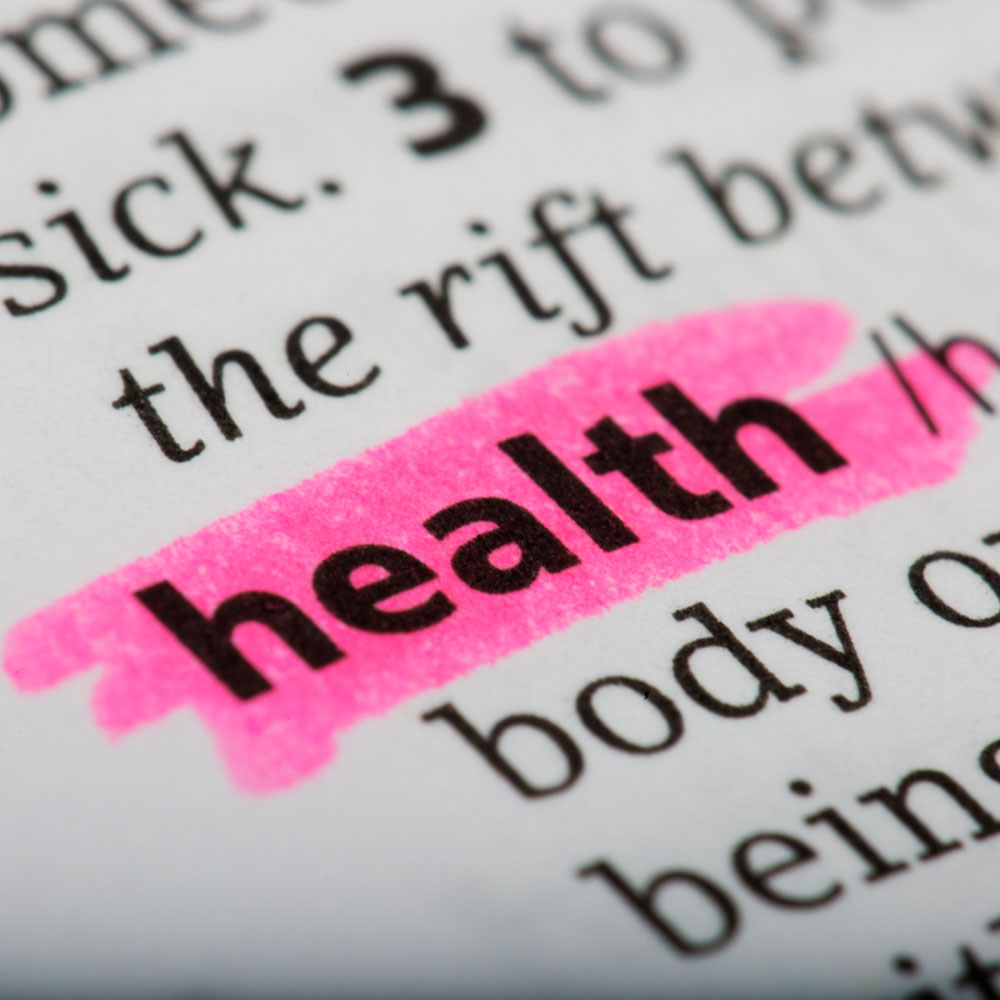 Word Health Highlighted in Pink