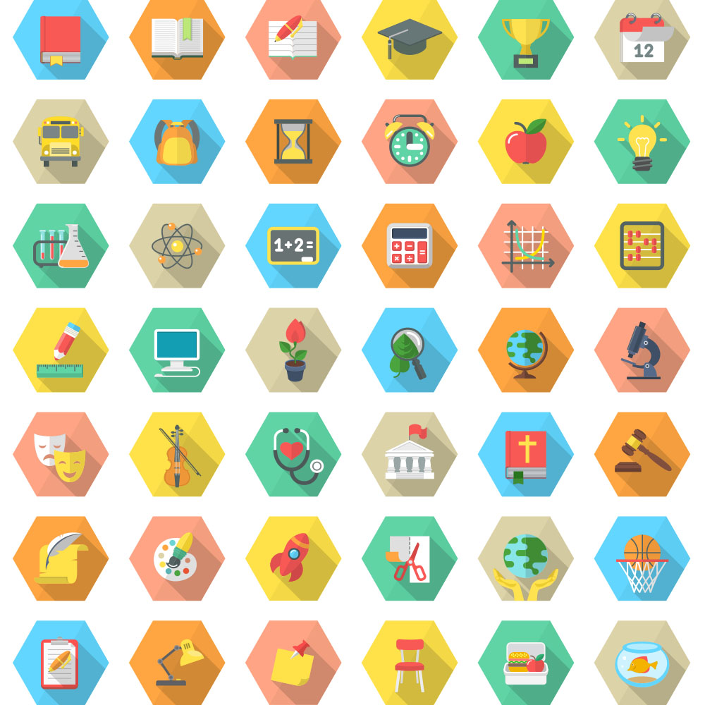 Different Illustrations of Icons
