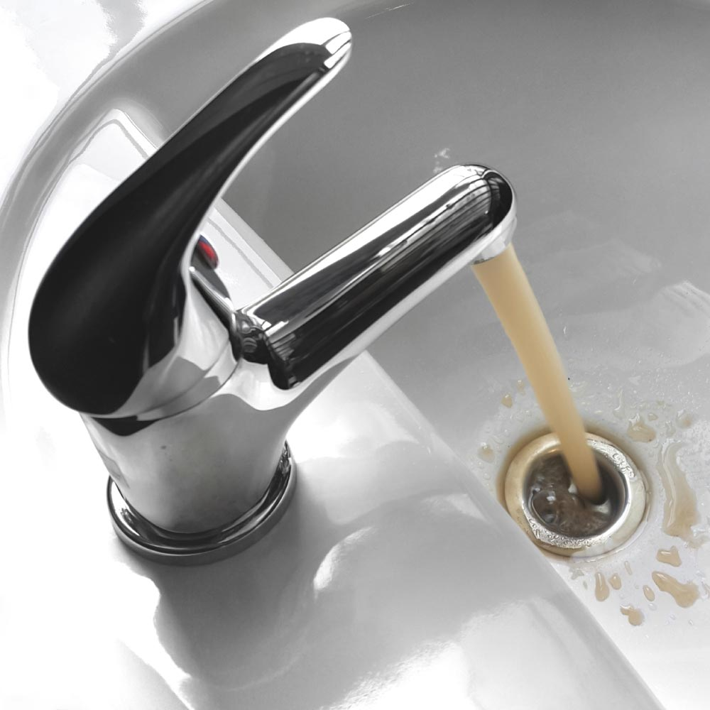 Faucet with Brown Water